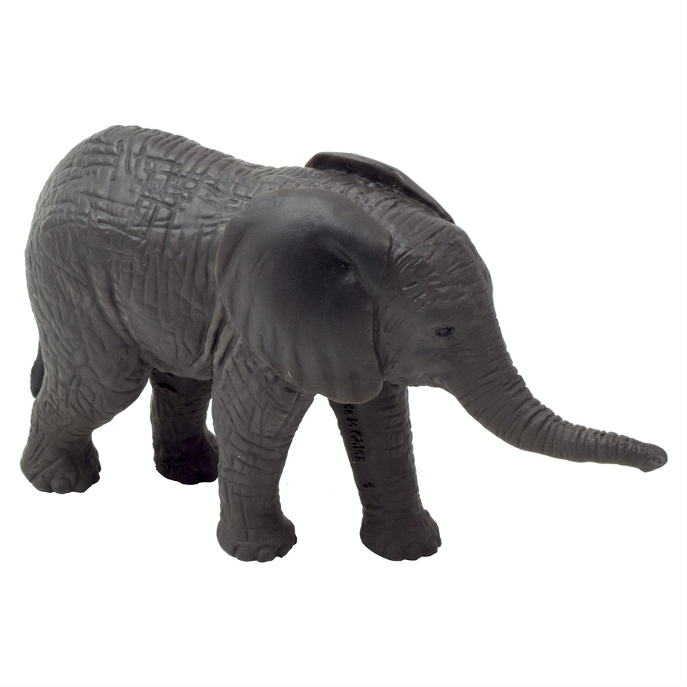 Realistic African Elephant Calf Figurine Toy By Animal Planet